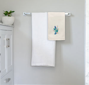 Tropical Jungle Collection, Handpainted Linen Towel, Set of two
