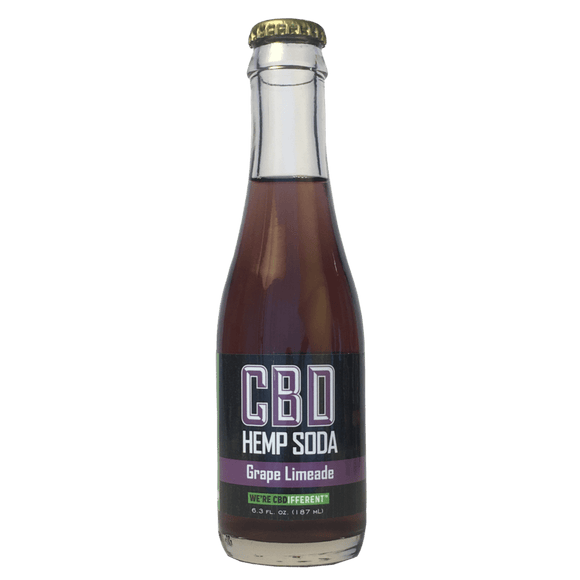 Grape Limeade Soda by Cannabinoid Creations - 25 mg