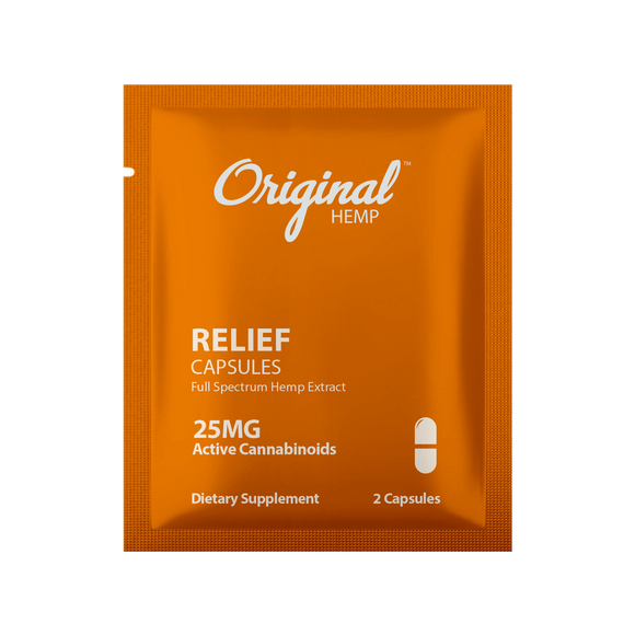 Original Hemp Relief Daily Dose Capsules - 25 mg
