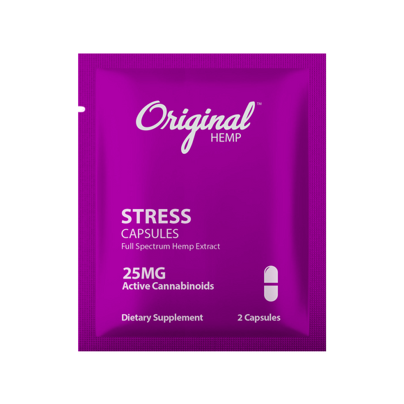 Original Hemp Stress Daily Dose Capsules - 25 mg