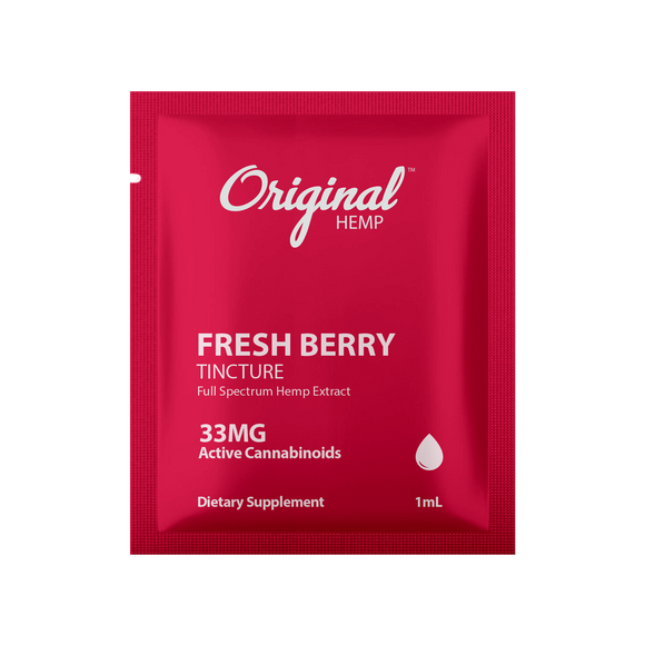 Original Hemp Fresh Berry Tincture Daily Dose Packet - 33 mg