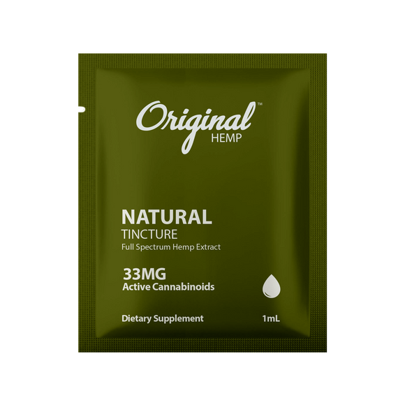 Original Hemp Natural Tincture Daily Dose Packet - 33 mg