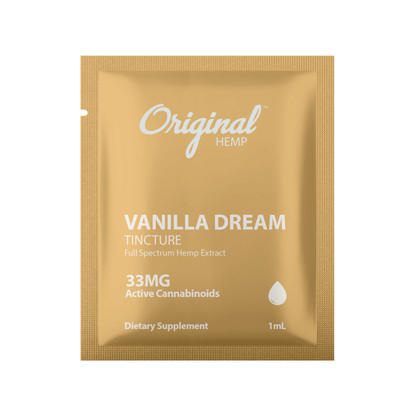 Original Hemp Vanilla Dream Tincture Daily Dose Packet - 33 mg