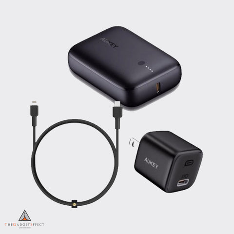 Aukey Bundle (Charger + PowerBank + Cable)