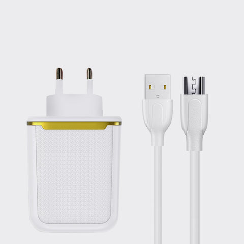Joyroom 2 Port Wall Charger With USB Cable (L-2A12Z)