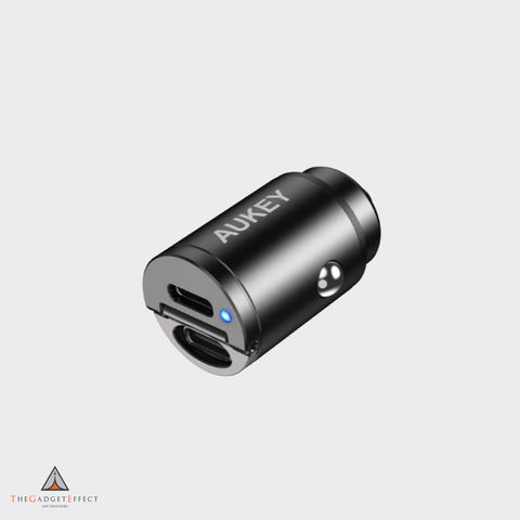 Aukey Dual Port USB-C 30W PD Car Charger (CC-A4)