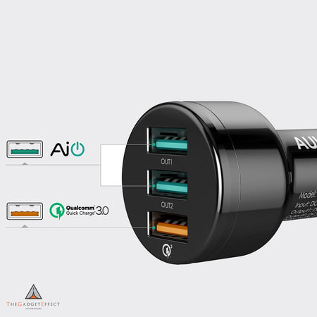 Aukey 3-Port Car Charger with Quick Charge 3.0 (CC-T11)