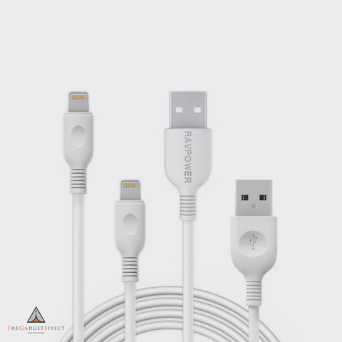 RavPower 1*3ft/0.9m+1*6ft/1.8m Lightning Cable – (RP-LC010)