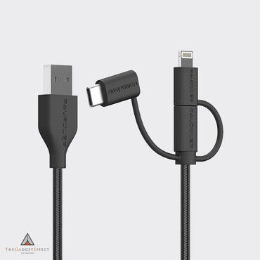 RavPower 1m USB-A to Lightning /Type-c /Micro-USB Cable – (RP-CB021)