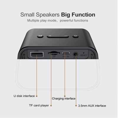 Baseus Encok Multi-functional wireless speaker E02(Aluminum alloy+U disk/TF card/AUX)