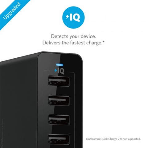 Anker PowerPort 10 -60W 10 Port USB Charger Black