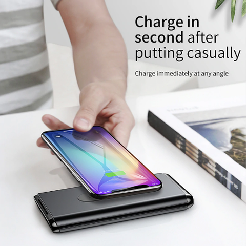 Baseus Wireless Charger Power Bank 10,000mAh PD+QC3.0 15W Black