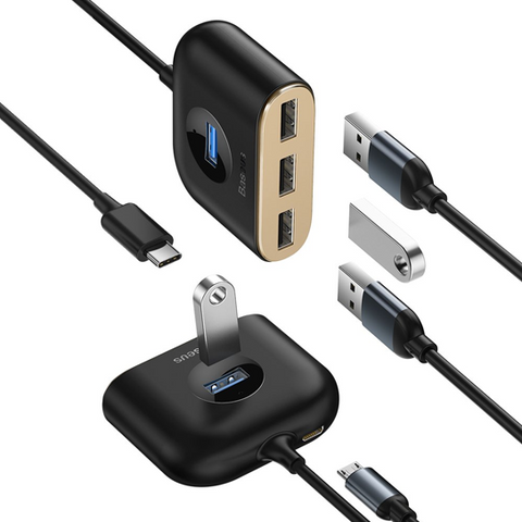 Baseus Square round 4 in 1 USB HUB Adapter
