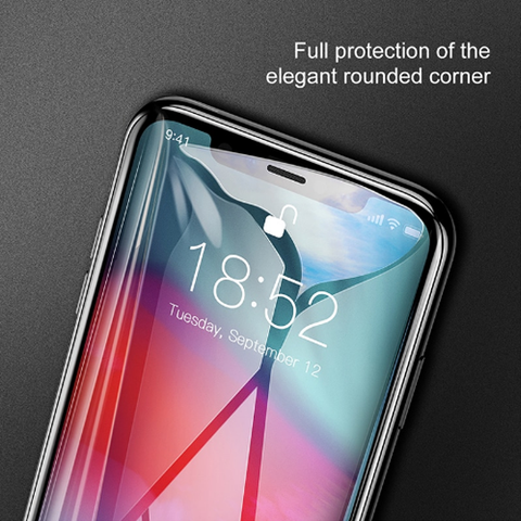 Baseus 0.3mm Full coverage curved tempered glass protector For iPhone XS max