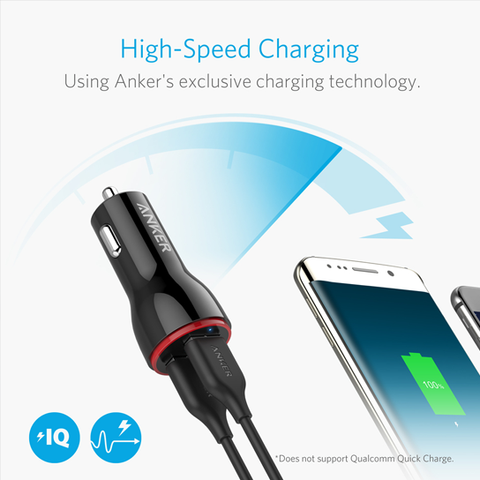 Anker 24W Dual Port Car Charger Without Cable