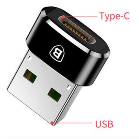 Baseus USB Male To Type-C Female Adapter Converter