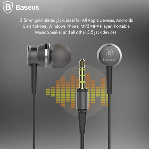 Baseus Lark Series Wired Earphones Sky Gray