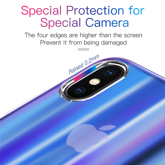 Baseus Aurora Case For iPhone XR (2018) Transparent Blue