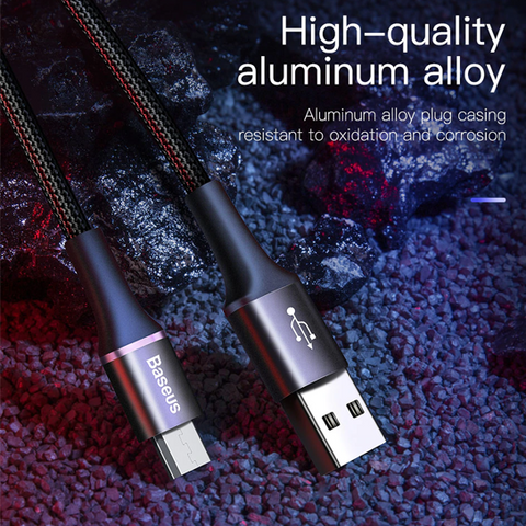 Baseus halo data cable USB For Micro 3A 0.5m