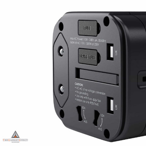 Aukey Universal Travel Adapter With USB-C and USB-A Ports (PA-TA01)