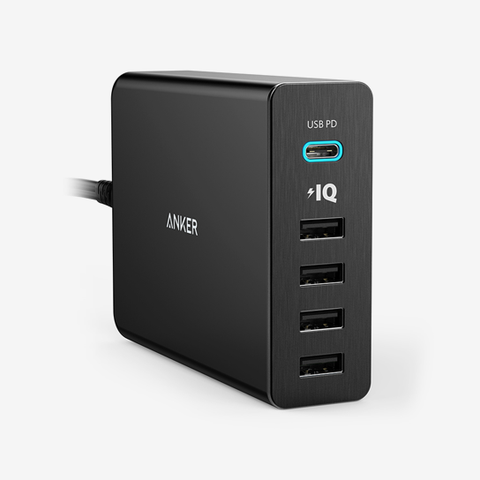 Anker 60W 5 Power Port With USB-C PD