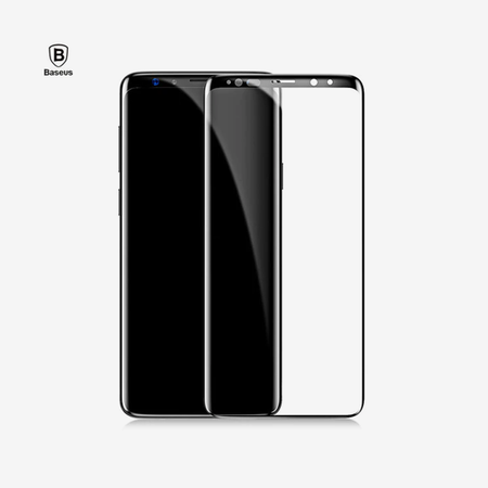 Baseus 0.3mm All-screen Arc-surface Tempered Glass Film For SAMSUNG Galaxy S9 Black