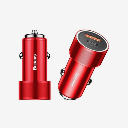 Baseus Small Screw Type-C PD+USB Quick Charge Car Charger 36W