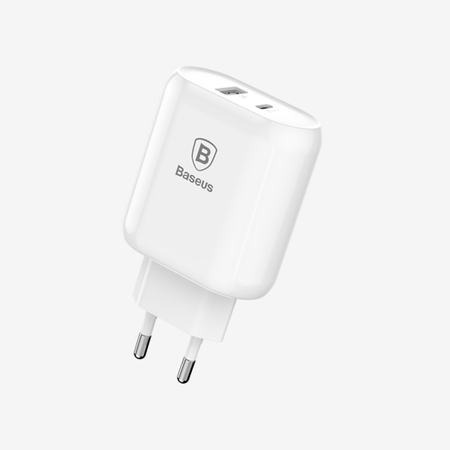 Baseus Bojure SeriesType-C PD+U quick charge CHARGER EU 28W White