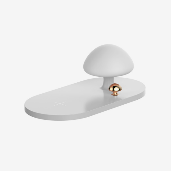 Baseus mushroom lamp Desktop wireless charger White