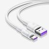 Baseus Double-ring Huawei quick charge cable USB For Type-C 5A 1m White