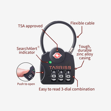Tarriss TSA Search Alert Lock (Pack of 2) - The Gadget Effect