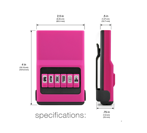 ACM Wallet Jelly Pink - The Gadget Effect