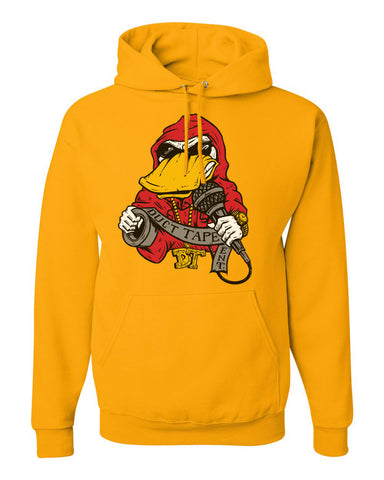 Yellow Hoodie With Ducttape Logo