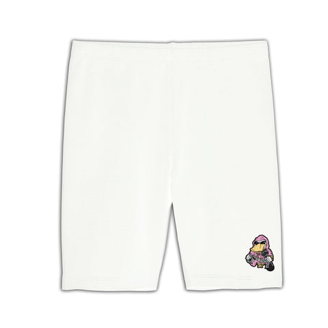 White Biking Shorts