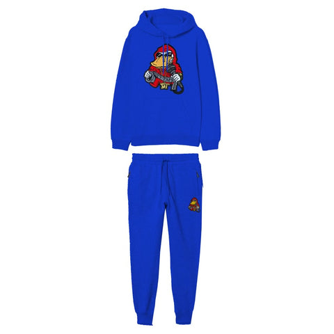 Blue Ducttape Jogger With Chenille Patch