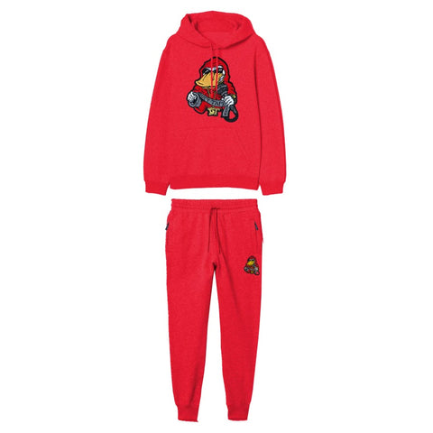 Red Ducttape Jogger With Chenille Patch