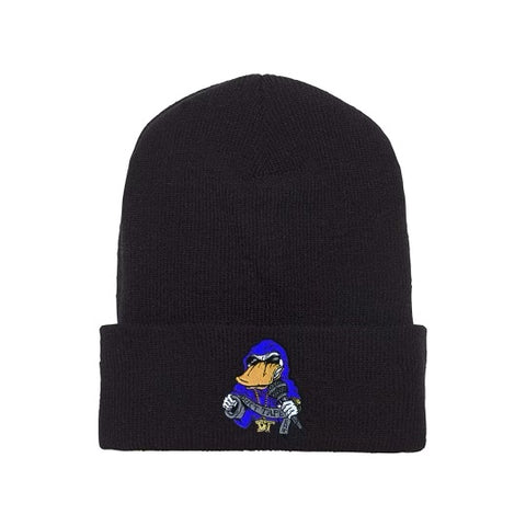 Beanie Blue on Black