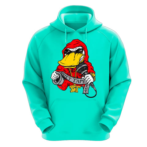 Teal Hoodie With Ducttape Logo
