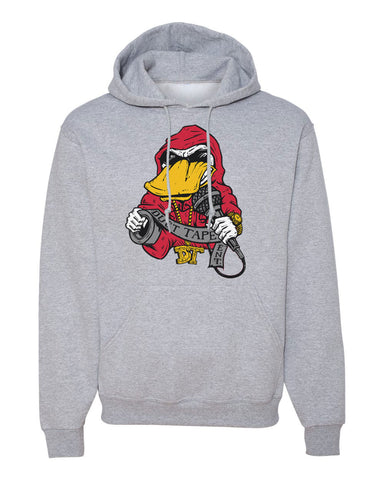 Grey Hoodie With Ducttape Logo