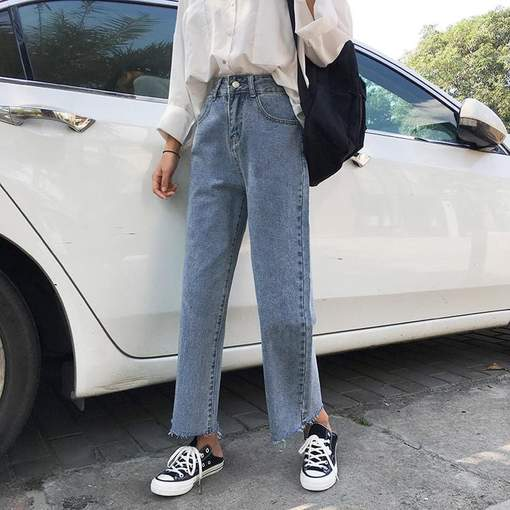 egirl aesthetic cropped ankle jeans