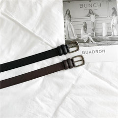 Buy cheap Aesthetic clothes BASIC BROWN BLACK METALLIC BUCKLE UNISEX PU LEATHER BELT 30% OFF - NORMCORE STUDIOS