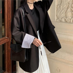 OVERSIZE JACKET COAT ONE BUTTON ROLLED SLEEVES