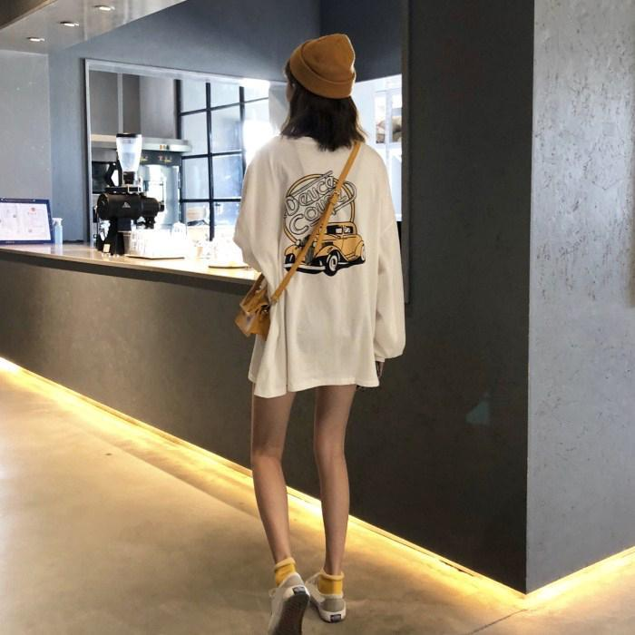 Buy cheap Aesthetic clothes CAR CARTTON PRINT LONG SLEEVE OVERSIZED T-SHIRT 30% OFF - NORMCORE STUDIOS