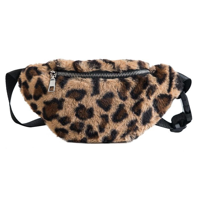 Buy cheap Aesthetic clothes LEOPARD FAUX FUR FUNNY PACK STYLE BUM BAG 30% OFF - NORMCORE STUDIOS