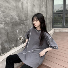 LOOSE LINES BLACK OVERSIZED T-SHIRT