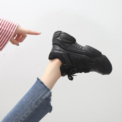 Buy cheap Aesthetic clothes BLACK AND WHITE OLD PLATFORM UGLY SNEAKERS 30% OFF - NORMCORE STUDIOS