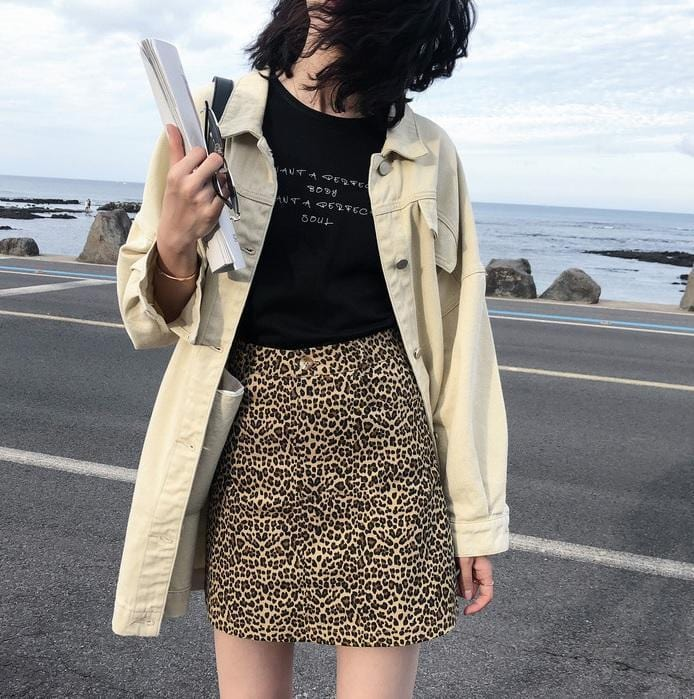 Buy cheap Aesthetic clothes BLACK BEIGE LONG SHIRT STYLE DENIM JACKET 30% OFF - NORMCORE STUDIOS