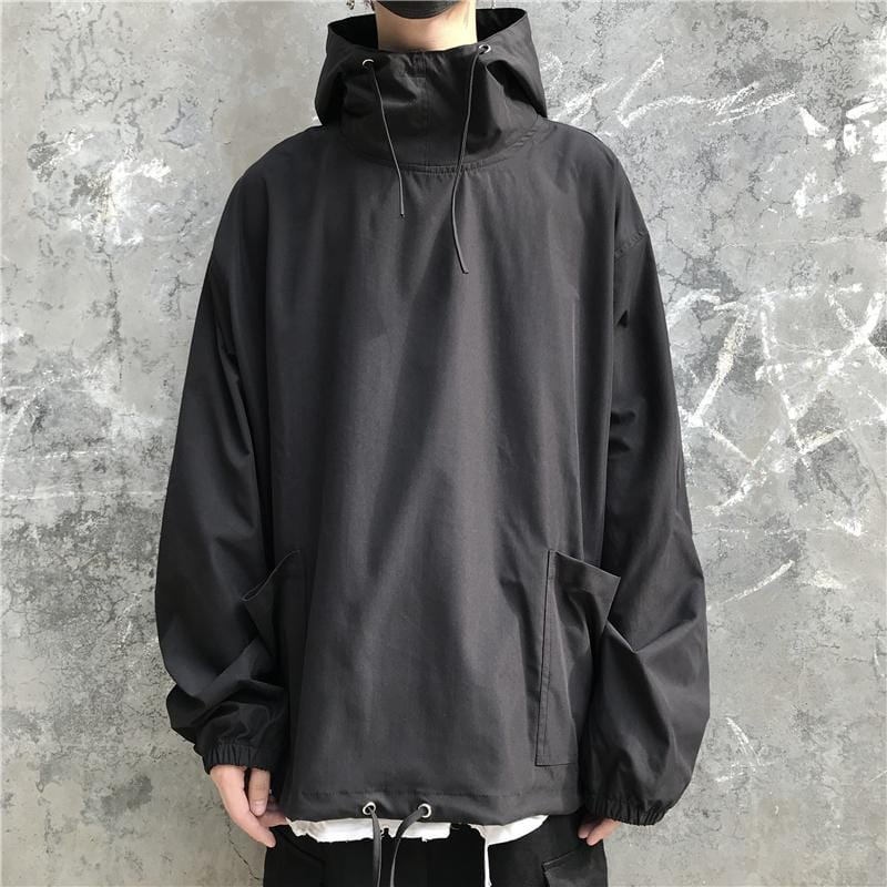 Buy cheap Aesthetic clothes BLACK GREEN STREET AESTHETIC LOOSE HOODED JACKET 30% OFF - NORMCORE STUDIOS