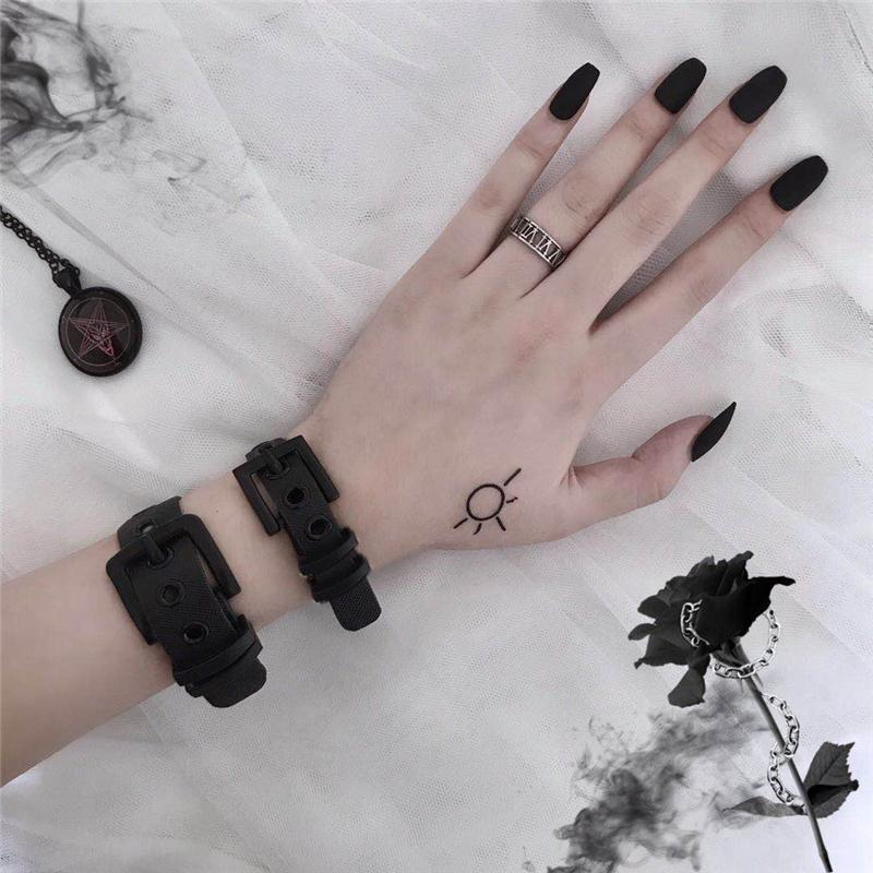 Buy cheap Aesthetic clothes BLACK PUNK BUCKLE STREET STYLE BRACELETS 30% OFF - NORMCORE STUDIOS