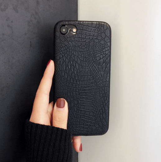 itGirl Shop BLACK SNAKE SKIN MINIMALISTIC IPHONE COVER Aesthetic Apparel, Tumblr Clothes, Soft Grunge, Pastel goth, Harajuku fashion. Korean and Japan Style looks